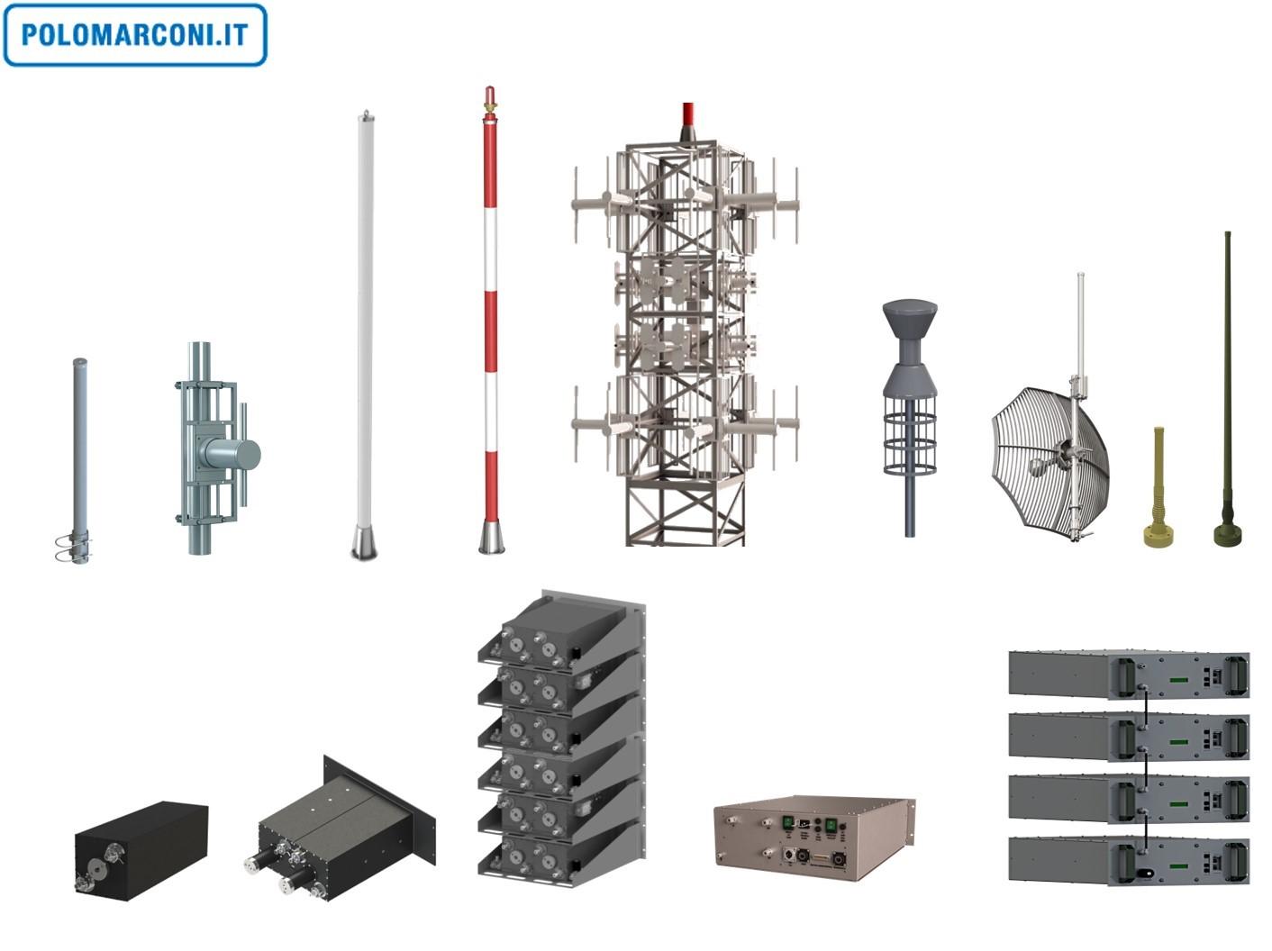 POLOMARCONI ANTENAS Y FILTROS VHF-UHF